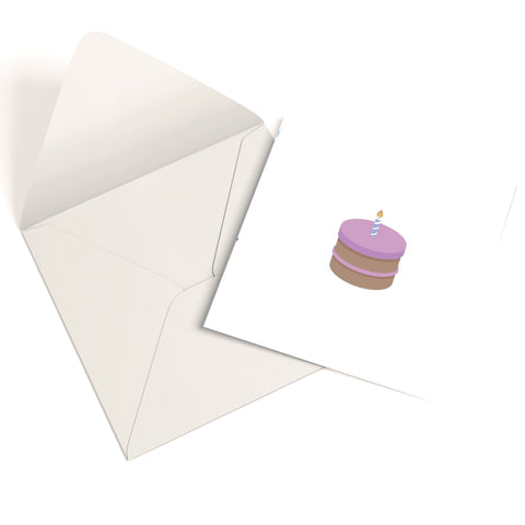 Birthday Cake Greetings Card
