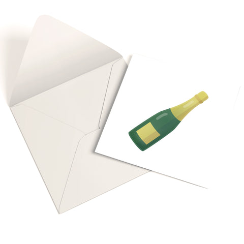 Champagne Greetings Card