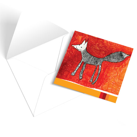 Autumnal Fox Greetings Card