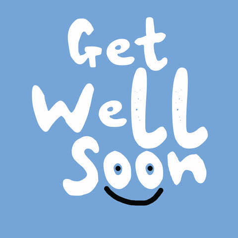 Get Well Blue Greetings Card