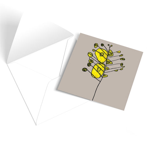 Yellow Flowers Greetings Card