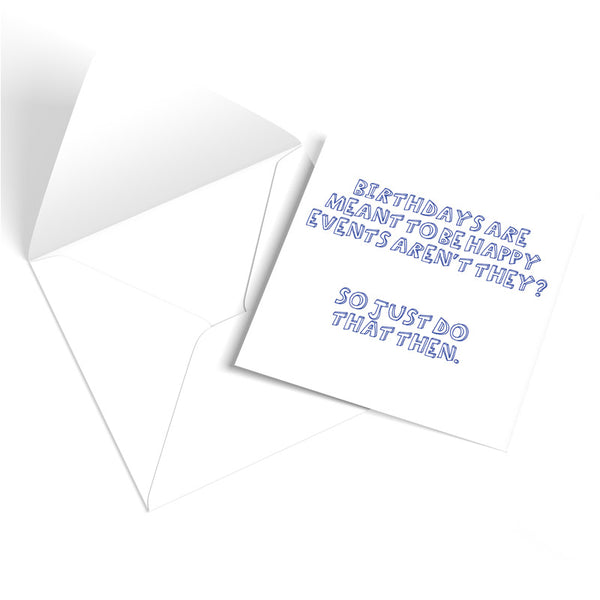 'Happy Events' Birthday Greetings Card