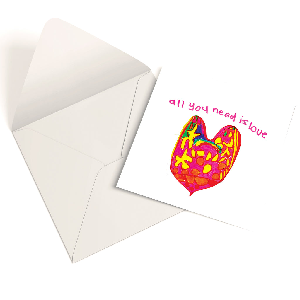 'All You Need Is Love' Greetings Card