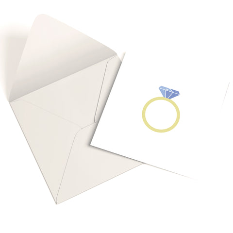 Diamond Ring Greetings Card