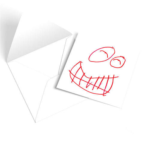 'SMILE' Greetings Card
