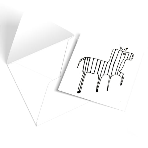 Dancing Zebra Greetings Card