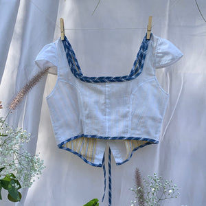 Princessa Top in Yellow Stripe and White Combo
