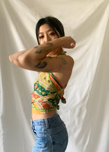 Load image into Gallery viewer, Silk Scarf Top in 70's Floral XS-M