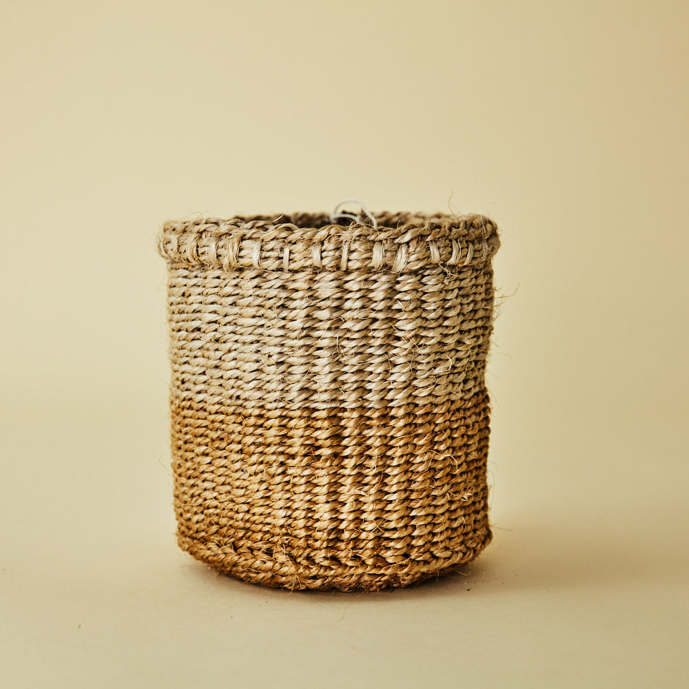 Two Tone Woven Storage Basket LARGE