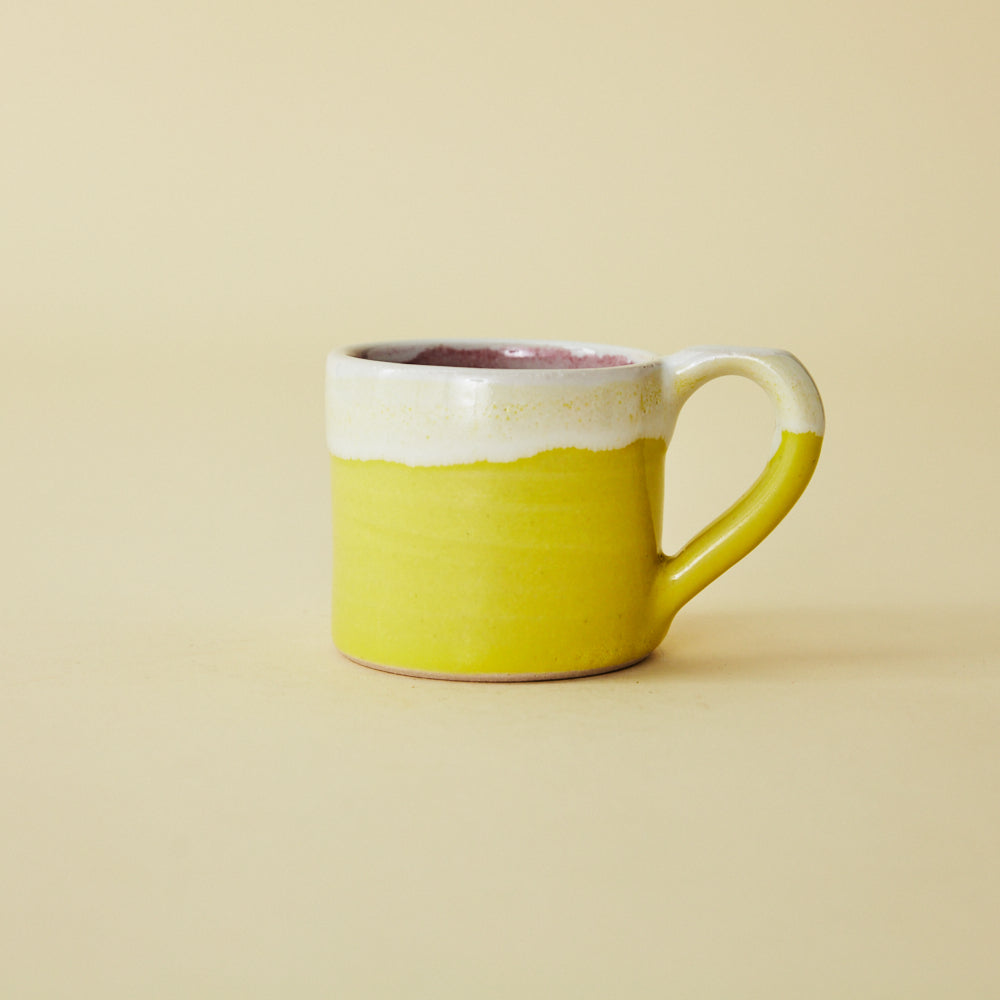 Yellow Dipped Coffee Cup