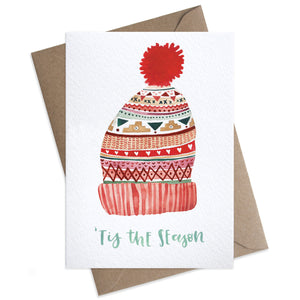 Wooly Hat Christmas Card