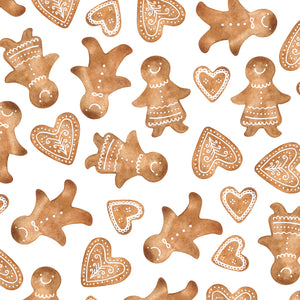 Gingerbread Christmas Wrapping Paper