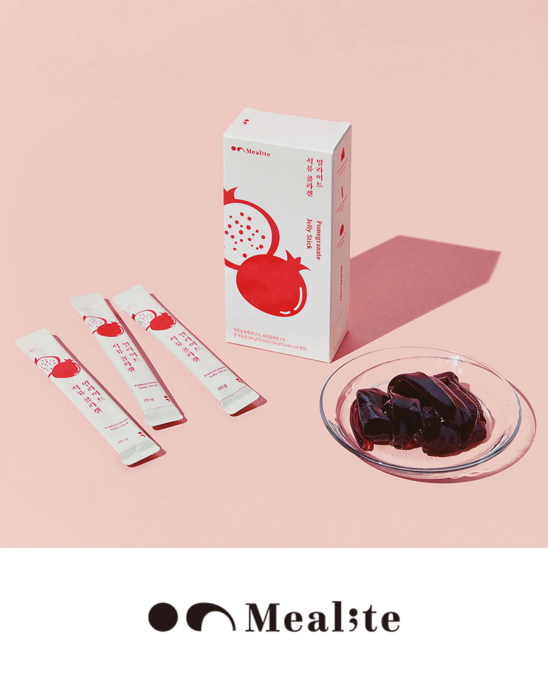 Pomegranate Collagen Jelly Sticks from Mealite