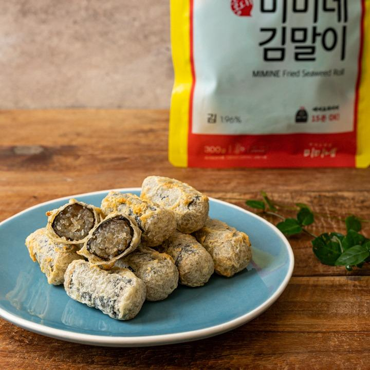 korean fried seaweed roll from Korea's famous Tteokbokkin brand Mimine. (Famous Tteokbikki shop started from Hongdae)