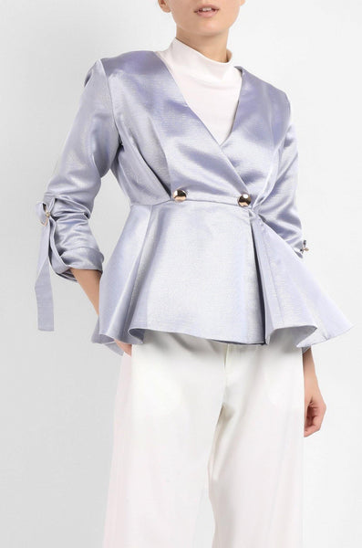 Exclusive Peplum Jacket in Blue