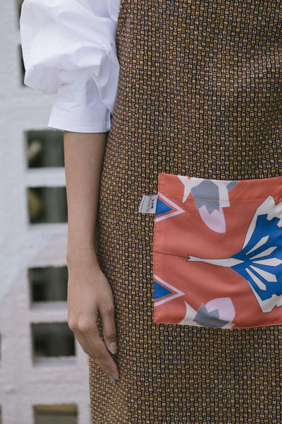 The Kita Apron - Orange Tweed