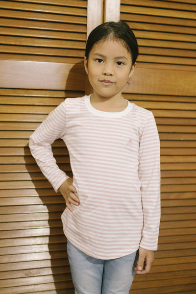 Kids Classic Stripe Top in Pink