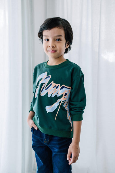 Alston KIDS Sweater Mimpikita in Emerald Green