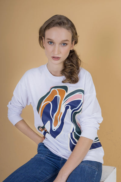 Alston Sweater Mimpikita in White