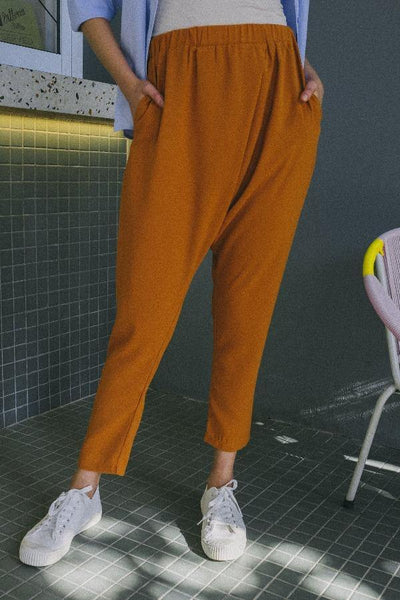 Relaxed Slouch Pants In Brown