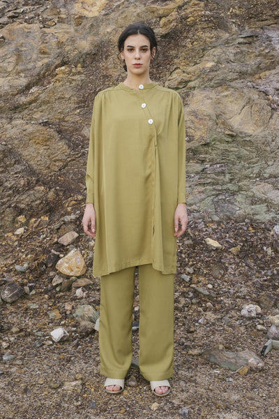 Oversized Tunic Set In Olive