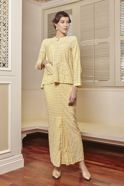 Alna Front Pocket Modern Kurung Set