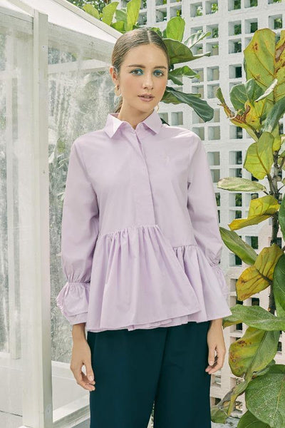 Tiered Shirt in Lilac