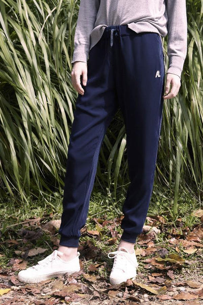Mid Rise Jogger Pants in Navy