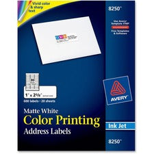 Avery® Color Printing Address Labels - Sure Feed