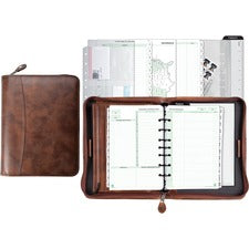 Day-Timer Aviator Leather Zip Organizer Starter Set