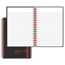Black n' Red Wirebound Semi - rigid Cover Ruled Notebook - A6