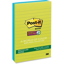 Post-it® Super Sticky Notes - Bora Bora Color Collection