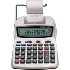 Victor 1208-2 12 Digit Compact Commercial Printing Calculator