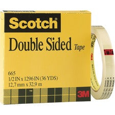 Scotch Permanent Double-Sided Tape - 1/2
