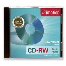 Imation Government CD Rewritable Media - CD-RW - 4x - 700 MB - 1 Pack Jewel Case