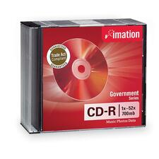 Imation Government CD Recordable Media - CD-R - 52x - 700 MB - 10 Pack Slim Jewel Case