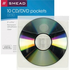 Smead Self-Adhesive CD/DVD Pockets