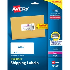 Avery® TrueBlock Shipping Labels - Sure Feed