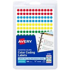 "Avery® 1/4"" Color-Coding Labels"