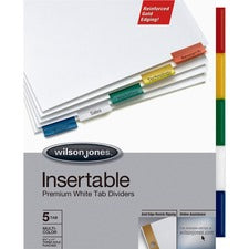 Wilson Jones Gold Line Insertable 5-Tab Dividers