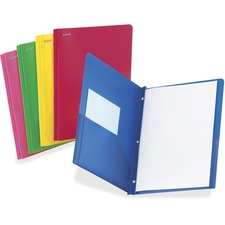 TOPS Oxford Translucent Poly Twin Pocket Folders
