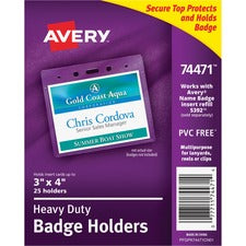 Avery® Heavy Duty Secure Top(TM) Badge Holders