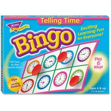 Trend Telling Time Bingo Game