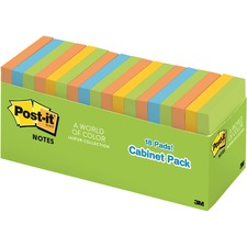 Post-it® Notes Cabinet Pack - Jaipur Color Collection