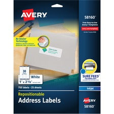 Avery® Address Labels - Repositionable