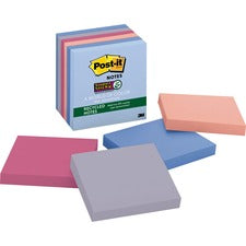 Post-it® Super Sticky Recycled Notes - Bail Color Collection