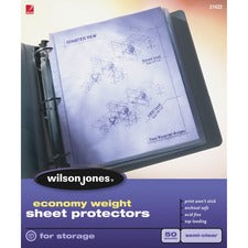 Wilson Jones Economy Weight Top-Loading Sheet Protector