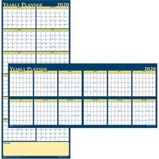 House of Doolittle Laminated Yearly Wall Planner