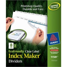 Avery® Print & Apply Label EcoFriendly Dividers - Index Maker Easy Apply Label Strip