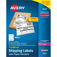 Avery® Shipping Labels with Paper Receipts - TrueBlock